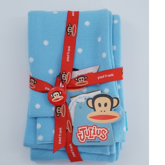 Paul Frank Julius Monkey Beanie Scarf and Button